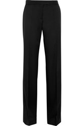 Stella Mccartney Jasmine Wool Twill Wide Leg Pants Black
