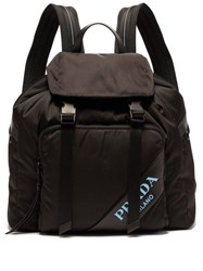 Prada Logo Nylon Backpack Black