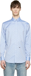 Dsquared Light Blue Relax Dan Polka Dot Shirt