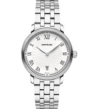 Montblanc 112636 Tradition Stainless Steel Watch White