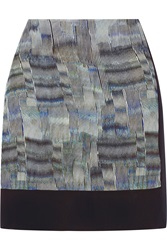 Joseph Gwen Printed Silk Mini Skirt Blue