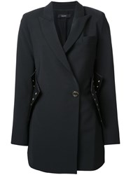 Ellery Corset Detail Coat Black