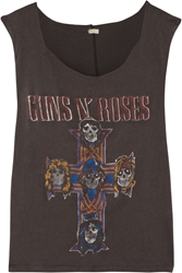 Finds Madeworn Guns N' Roses Distressed Cotton Jersey Tank