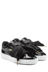 Puma Sneakers With Patent Leather Black