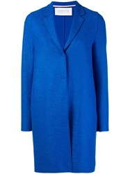 Harris Wharf London Cocoon Pea Coat Blue