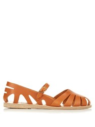 Ancient Greek Sandals Apollonia Cut Out Leather Sandals
