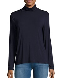 Calvin Klein Turtleneck Jersey Knit Top Twilight