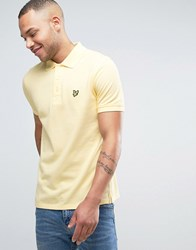 Lyle And Scott Pique Polo Regular Fit Eagle Logo In Yellow Yellow