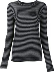 Jenni Kayne Striped Jumper Black