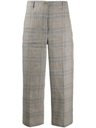 Semicouture Cropped Plaid Trousers 60