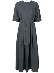 Aspesi Belted Long Dress Grey
