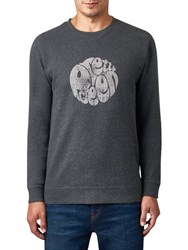 Pretty Green Heyland Logo Sweatshirt Charcoal