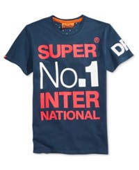 Superdry Men's International Graphic Print T Shirt Nautical Navy