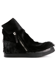 Ca By Cinzia Araia Pony Fur Paneled Boots Black