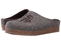 Haflinger Dream Grey Violet Women's Clog Shoes Gray