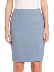 Akris Punto Houndstooth Pencil Skirt Tarn Chalk