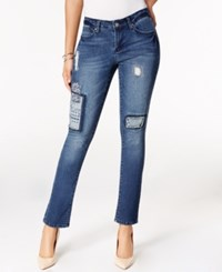 Earl Jeans A Macy's Exclusive Style Patched Dark Wash Skinny A Macy's Exclusive Style