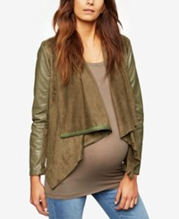 A Pea In The Pod Maternity Draped Jacket Olive
