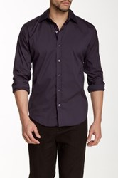 Lorenzo Uomo Modern Fit Stretch Shirt Purple