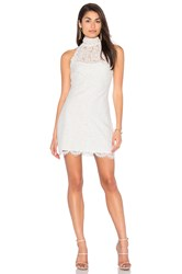 Lioness Dancing With Fame Lace Mini Dress White