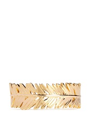 Philippe Audibert Palm Leaf Open Cuff Metallic