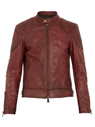 Belstaff Outlaw Leather Jacket Red