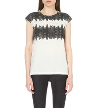Allsaints Serpine Brooke Cotton T Shirt Chalk White