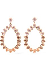 Larkspur And Hawk Caterina Large Gold Dipped Quartz Earrings One Size