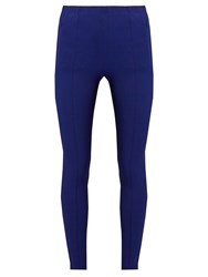 Balenciaga Pintuck High Rise Leggings Blue