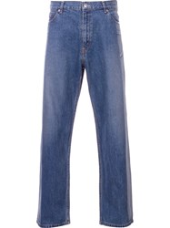 Serge De Blue Two Tone Wide Leg Jeans Blue