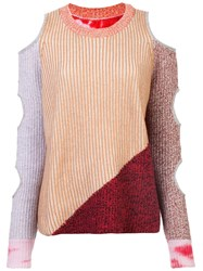 Zoe Jordan Cut Out Knitted Sweater Brown