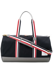 Thom Browne Large Signature Trimmed Holdall Blue