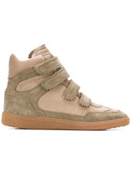 Isabel Marant Bilsy High Top Sneakers Green