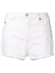 Iro Slim Fit Denim Shorts White