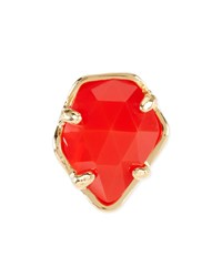 Bright Red Opaque Glass Facet Charm Kendra Scott