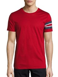Burberry Jake Military T Shirt Red
