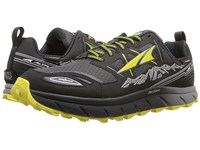 Altra Footwear Lone Peak 3 Neoshell Black Yellow Men's Shoes Gray