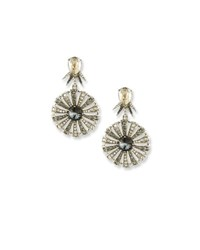 Oscar De La Renta Celestial Star Drop Earrings Gray