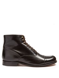 Grenson Leander Leather Ankle Boots Dark Brown