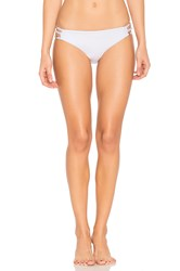 Ella Moss Juliet Solids Side Strap Bikini Bottom White