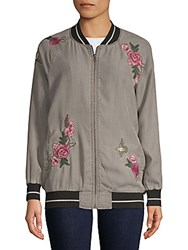 Billy T Floral Embroidered Jacket Grey