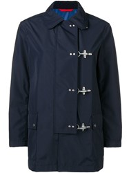 Fay Off Centre Button Jacket Blue