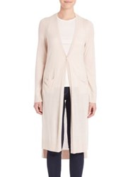 Halston Long Sleeve V Neck Cardigan Oyster