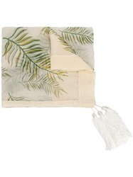 Forte Forte Leaf Printed Scarf Nude And Neutrals