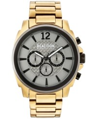 Kenneth Cole Reaction Men's Chronograph Gold Tone Stainless Steel Bracelet Watch 48Mm 10031948