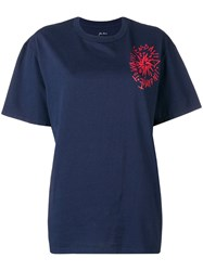 Julien David Round Neck T Shirt Blue