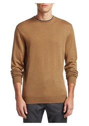 Saks Fifth Avenue Collection Wool And Silk Sweater Tan