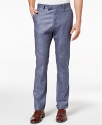 Ryan Seacrest Distinction Men's Slim Fit Chambray Cuffed Pants Created For Macy's