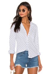 Frank And Eileen Barry Limited Edition Button Down Blouse Baby Blue