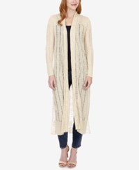 Lucky Brand Open Knit Duster Cardigan Natural